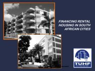 financing rental housing in south african cities - Business Trust