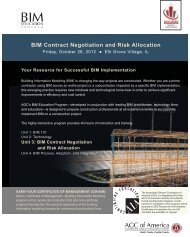 BIM Contract Negotiation and Risk Allocation - Builders Association