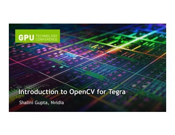 Introduction to OpenCV for Tegra | GTC 2013