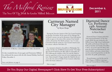 The Milford Review Carmean Named City Manager - Milford LIVE!