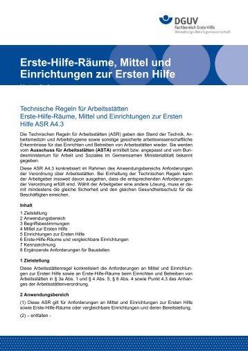 Technische Regeln für Arbeitsstätten - Hans Hepp GmbH