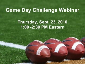 Game Day Challenge Overview
