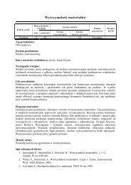 Wytrzymałość materiałów - wykład III semestr - Jacek Gowin - Lublin