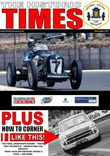 HRCR Times Nov.pub - Historic Racing South Africa