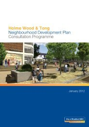 Holme Wood & Tong NDP Consultation Programme - Bradford ...