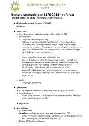 Bestyrelsesmøde den 11/6 2013 – referat: - Hjerneskadeforeningen
