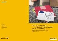 Infopost, Variomailing und Infocard International: Schnell ...