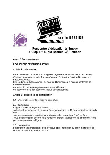 Clap 1ère sur la Bastide 2013 - Association des centres d'animation ...
