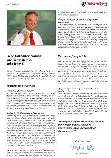 Gemeindezeitung Nr. 211 - Dezember 2011 - Seite 4-5 - Lebensklima