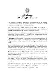Decreto MSE n. 87 del 27 marzo 2008, ha approvato il Regolamento ...