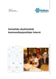 Somatiske akuttmottak kommunikasjonslinjer internt - KoKom