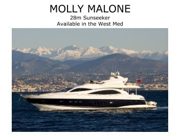 Motor Yacht Molly Malone - Taylor'd Yacht Charters