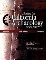 Proceedings History - Society for California Archaeology