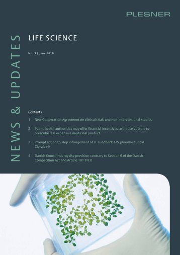 Life Science Newsletter No. 3 2010 - Plesner