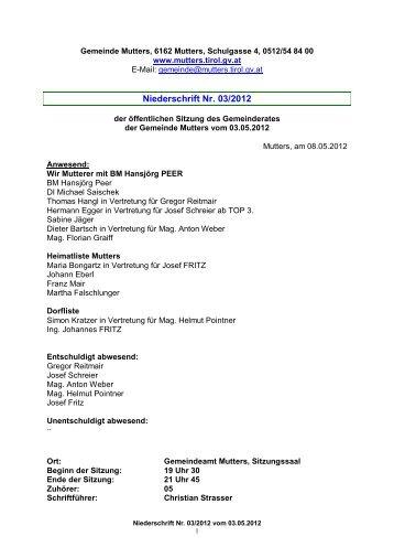 Protokoll vom 3. Mai 2012 (558 KB) - .PDF - Mutters