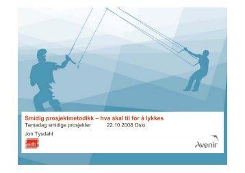 Smidig prosjektmetodikk - Norsk senter for prosjektledelse