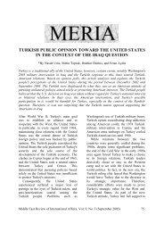 TURKISH PUBLIC OPINION TOWARD THE ... - GLORIA Center