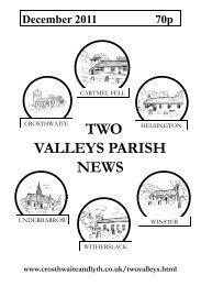 December 2011 - The Parish of Crosthwaite and Lyth