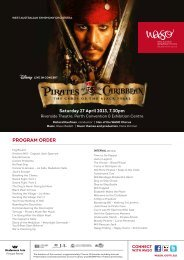 Pirates of the Caribbean - West Australian Symphony Orchestra