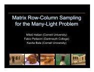 Matrix Row-Column Sampling for the Many-Light Problem