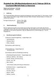 Protokoll AfA-Bezirkskonferenz 2010 - AfA-Bezirk Hannover