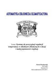Temat: Systemy do precyzyjnej regulacji temperatury w obiektach ...