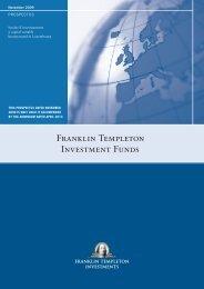 FRANkLiN TEMPLETON INVESTMENT FUNDS - Citibank