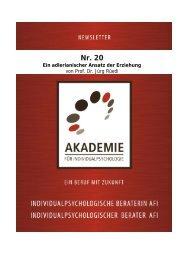 Ein adlerianischer Ansatz der Erziehung - Akademie für ...