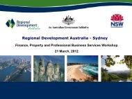 Bob Germaine's Presentation - RDA Sydney