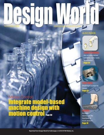 Integrate model-based machine design with motion ... - Kollmorgen