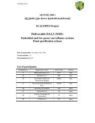 SCALOPES Project Deliverable DA2.2 (M18)
