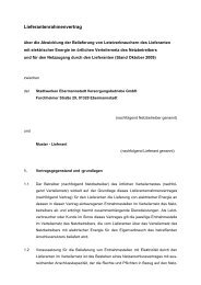 Lieferantenrahmenvertrag - Stadtwerke Ebermannstadt