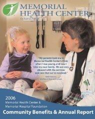 MHC 2006 Annual Report.qxp - Memorial Health Center