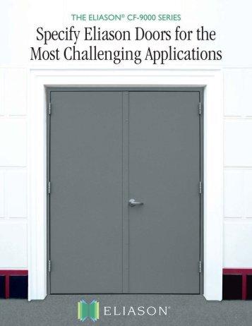 CF-9000 Fiberglass Doors - Eliason Corporation