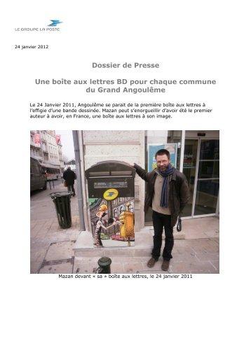Dossier de Presse Une boîte aux lettres BD pour ... - Angoulême