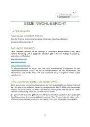 GEMEINWOHL-BERICHT - Christian Rüther