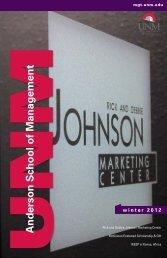 Winter 2012 - Anderson School of Management - University of New ...