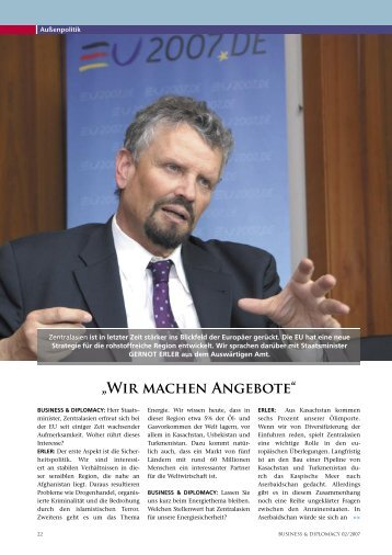 Interview - bei Gernot Erler