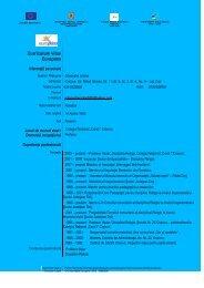 Curriculum vitae Europass - Casa Corpului Didactic Dolj
