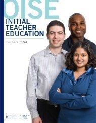 Concurrent Teacher Education Program - University of Toronto