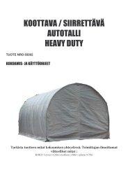 65002 Autotalli heavy duty FIN manu - Savenmaa
