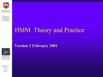 HMM Theory and Practice - University of Birmingham