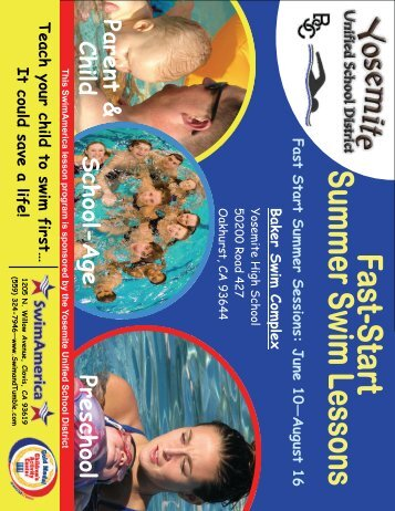 Summer 2013 Swimming Lessons Info and Registration Form
