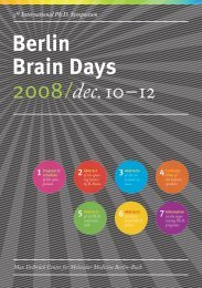 Berlin Brain Days 2008/dec.10–12 - Neuroscience Berlin