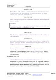 Annotated Protocol Template for an Observational Study - Murdoch ...