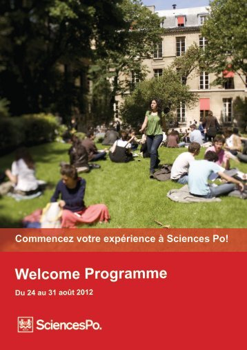 Welcome Programme - Sciences Po