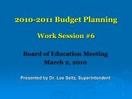 Budget Work Session 6