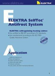 SelfTec heating cable - installation manual - Elektra
