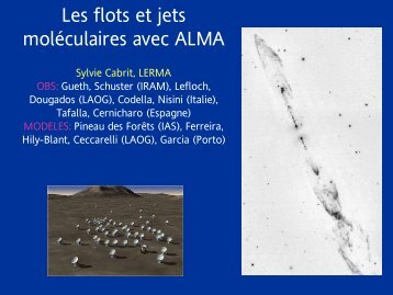 Les flots et jets moléculaires avec ALMA - Graal