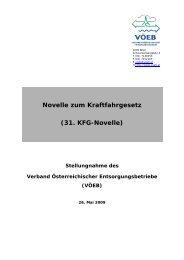 Novelle zum Kraftfahrgesetz (31. KFG-Novelle) - VÖEB